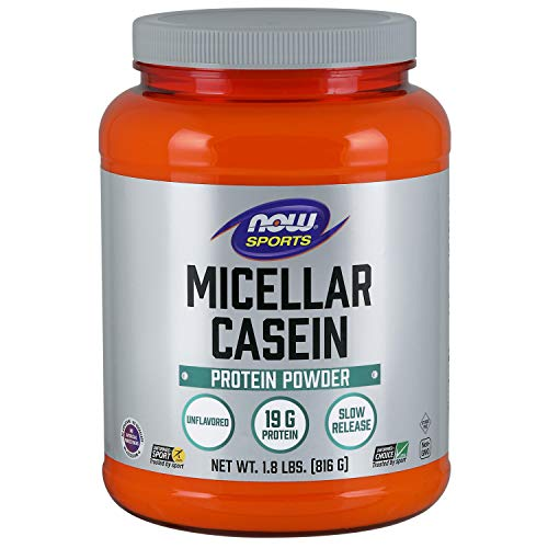 Now Sports Nutrition, Micellar Casein Powder, Unlfavored, 1.8-Pound