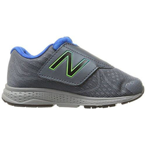 New Balance Boys' Vazee Rush Hook And Loop Running Shoe, Grey/Blue, 2 M Us Infant