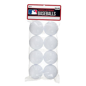Franklin Sports Aero-Strike Plastic Baseballs - Pack Of 8 (70-Mm)