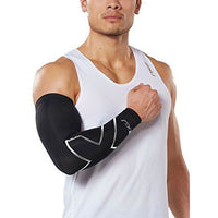 2Xu Compression Single Arm Guard, Black/Silver, Medium