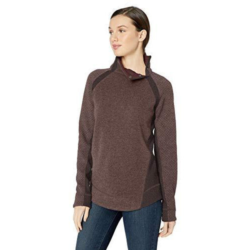 prAna Women's Brandie Athletic Sweaters, Medium, Weathered Wood Heather