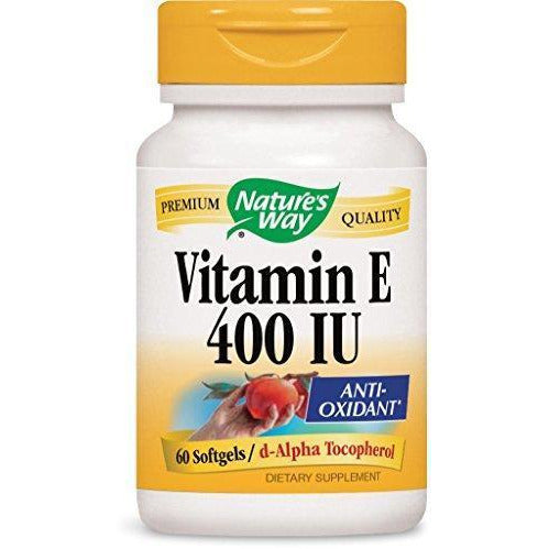 Nature'S Way Vitamin E 400 Iu, Softgels, 60-Count