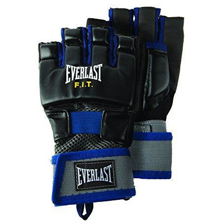 Everlast P00000360 Universal FIT Gloves Blue M/L Black/Blue S/M
