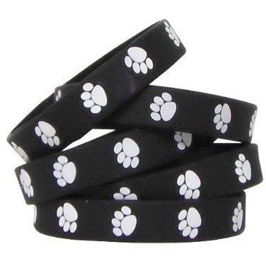Teacher Created Resources Black With White Paw Printâ  Wristbands (6570)