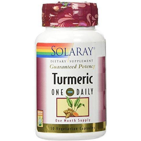 Solaray Turmeric Root Extract 600Mg | One Daily | Healthy Joints, Cardiovascular System Support | Guaranteed Potency | 30 Vegcaps
