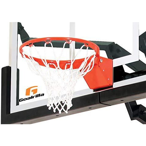 Goalrilla Heavy-Weight Pro-Style Breakaway Basketball Flex Rim With All-Weather Nylon Net And Powder-Coated Rim And Stainless Stee