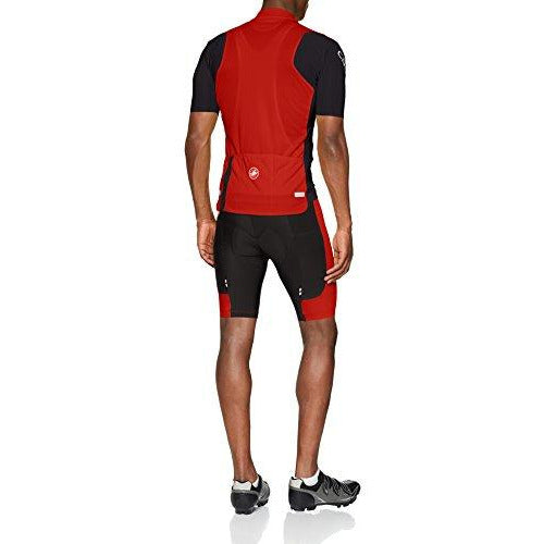 Castelli Entrata 3 Full-Zip Jersey - Men's Red, M