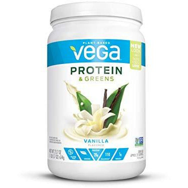Vega Protein & Greens Vanilla (21 Servings, 21.7 Ounce) - Plant Based Protein Powder, Keto-Friendly, Gluten Free, Non Dairy, Vegan
