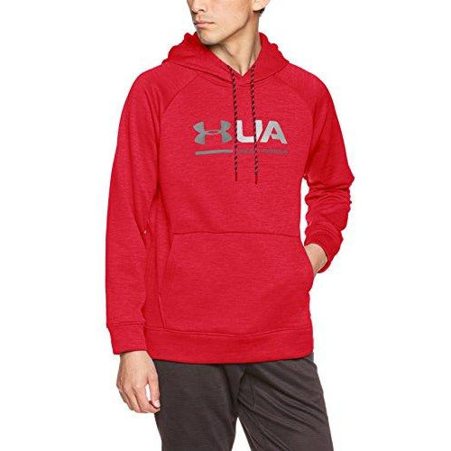 Under Armour Men's Storm Armour Fleece Tonal Twist Hoodie, Red /Black, Small