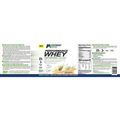 Performance Inspired Nutrition Performance Whey Protein, Natural Vanilla Bean, 2.16 Lb - Style: Pwvb