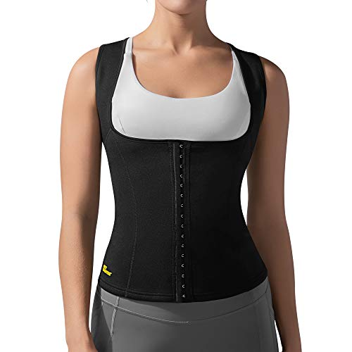 HOT SHAPERS Cami Hot Waist Cincher – Slimming Sweat and Workout Vest for Weight Loss – A Thermogenic Sauna Body Suit and Compression Girdle for Women Achieving a Slim Figure (Small, Black)