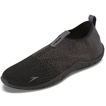 Speedo Men's Surf Knit Athletic Water Shoe, Black/Grey, 9