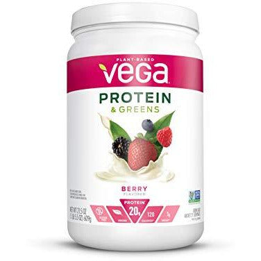 Vega Protein & Greens Berry (21 Servings (Packaging May Vary), 21.5 Ounce) - Plant Based Protein Powder, Keto-Friendly, Gluten Fre