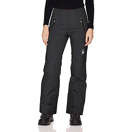 Spyder Women's Winner Athletic Fit Ski Pant, Black/Denim, 10-Regular