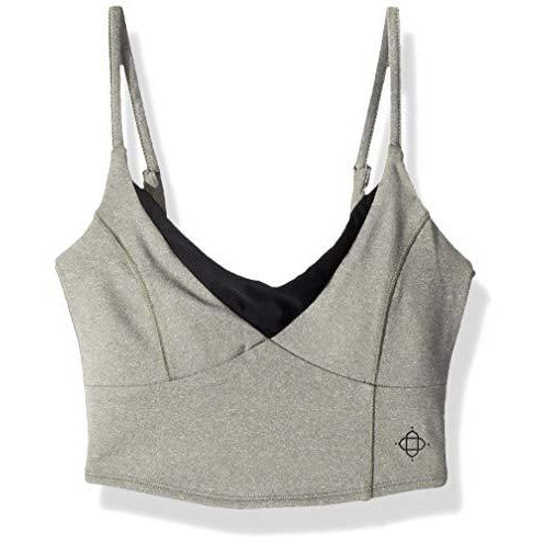 Satva Sports Bras- Activewear Adjustable Straps Comfortable Workout Yoga Tops Ananda Bra, Small, Heather Gray