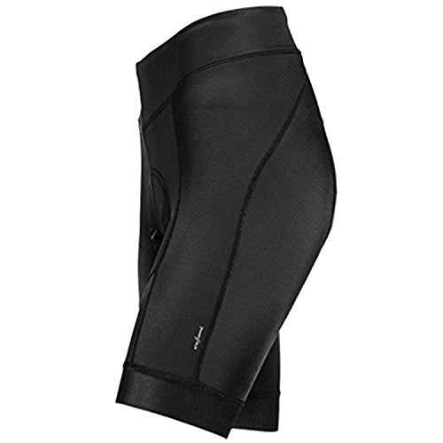 SHEBEEST Century Elite Shorts with Antibacterial Century Stretch Pad (Small) Black