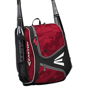 Easton E110Ybp Youth Bat & Equipment Backpack Bag | Baseball Softball | 2019 | Red | 2 Bat Sleeves | Smart Gear Storage | Valuable