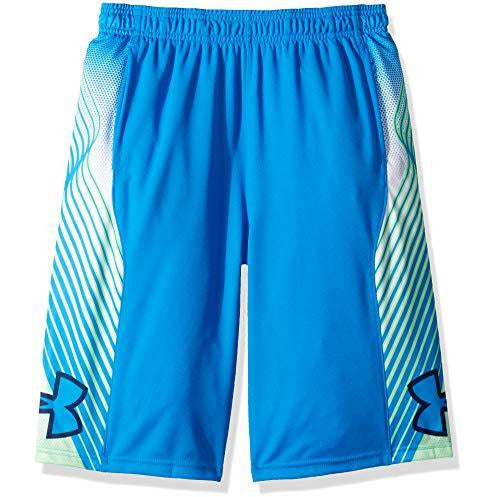Under Armour Boys' Space The Floor Shorts, Blue Circuit (436)/Blue Circuit, Youth X-Small