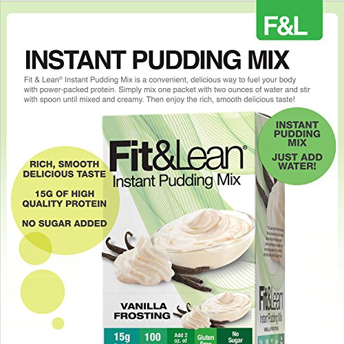 Fit & Lean, Instant Protein Pudding Mix, Vanilla Frosting, 6 Servings