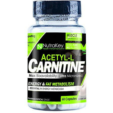 Nutrakey L-Carnitine 500Mg, 60 Count