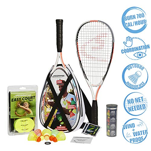Speedminton S900 Set - Original Speed €‹€‹Badminton/Crossminton Professional Set With 2 Carbon Rackets Incl. 5 Speeder, Playing