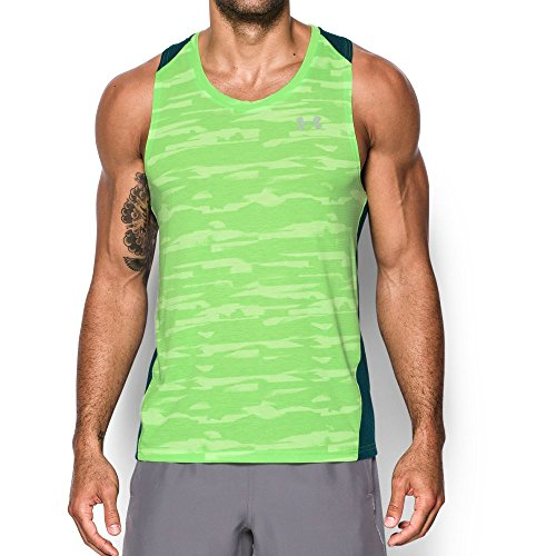 Under Armour Men's Threadborne Run Mesh Singlet,Quirky Lime /Reflective, X-Large