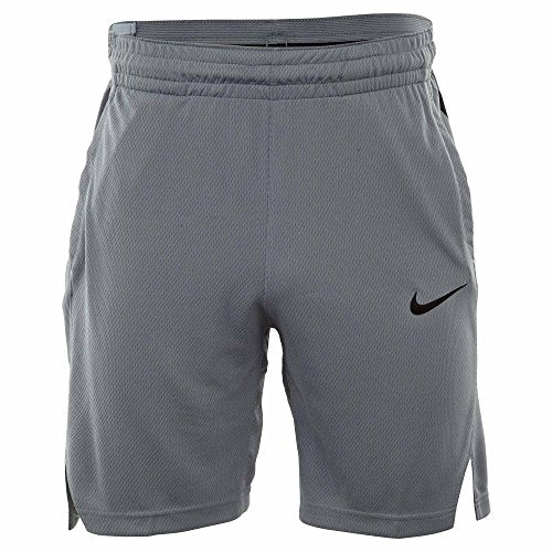 Nike Mens Elite Stripe Basketball Shorts Cool Grey/Black 831390-065 Size 2X-Large