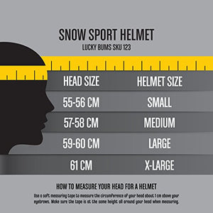 Lucky Bums Powder Series, Snow Sport Helmet, Black, Medium