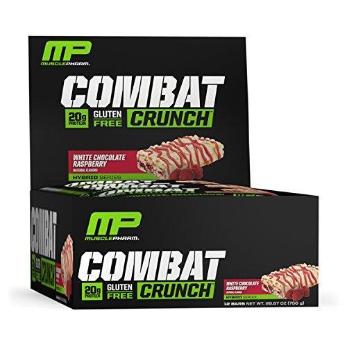 Musclepharm Combat Crunch Protein Bar - White Chocolate Raspberry Bars 12 Servings