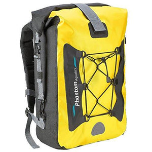 Phantom Aquatics Premium Waterproof Backpack Dry Bag, Yellow, 25-Liter