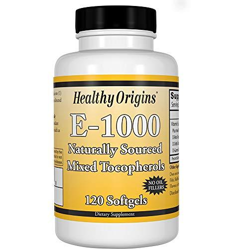 Healthy Orgins Healthy Origins Vitamin E - 1000 Lu Natural Mixed Toco Gels 120 Count