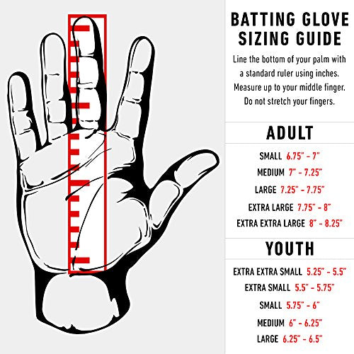 Franklin Sports Mlb Adult Cfx Pro Batting Glove, Pair, Small, Grey/Red