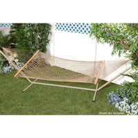 Bliss Hammocks Bh-410Br Classic Cotton Rope Hammock With Spreader Bar, Bronze