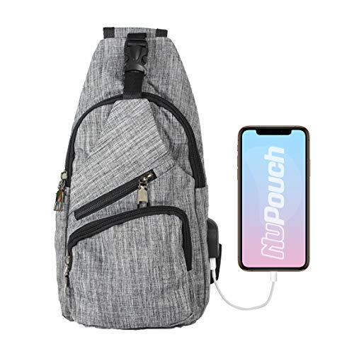 Nupouch Daypack Anti-Theft Backpack, Gray