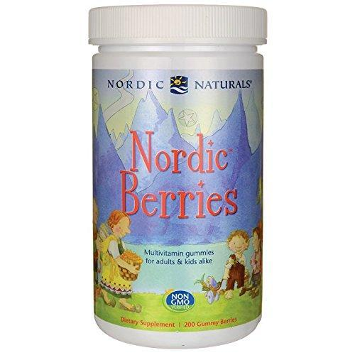 Nordic Naturals Nordic Berries Multivitamin Chewable Vitamin For Children And Adults 200Ct