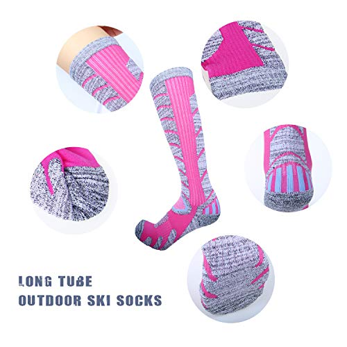 Sierry Ski Socks - Womens Mens Skiing Socks, Snowboard Socks for Cold Weather, Winter Outdoor Sports