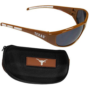 Siskiyou Ncaa Texas Longhorns Wrap Sunglasses & Zippered Case, Orange