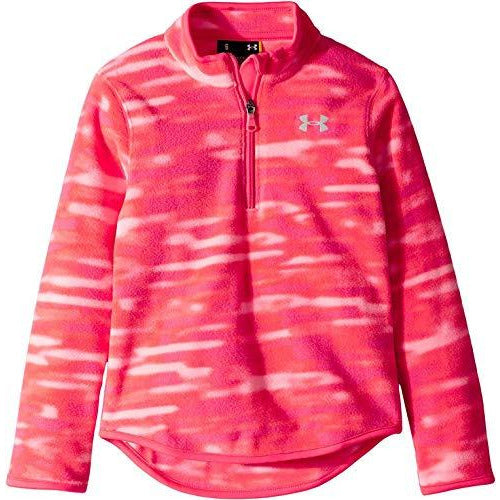 Under Armour Girls' Little Training 1/4 Zip Sweater, Penta Pink Voltage, 4
