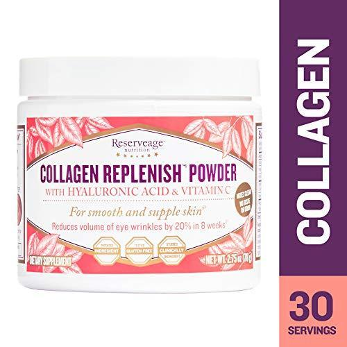 Reserveage Nutrition Collagen Replenish Powder For Smooth Elastic And Firm Skin 30 Serving 2.75 Oz