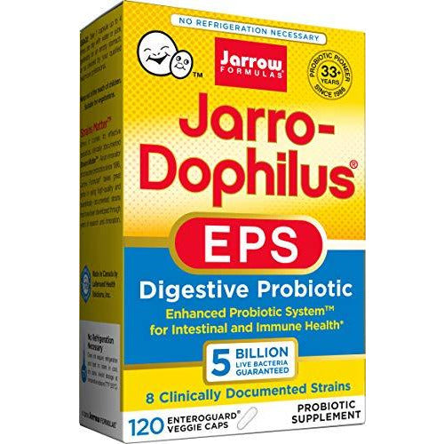 Jarrow Formulas Jarro-Dophilus EPS, Supports Intestinal Function and Health, 120 Veggie Capsules (Cool Ship, Pack of 3)