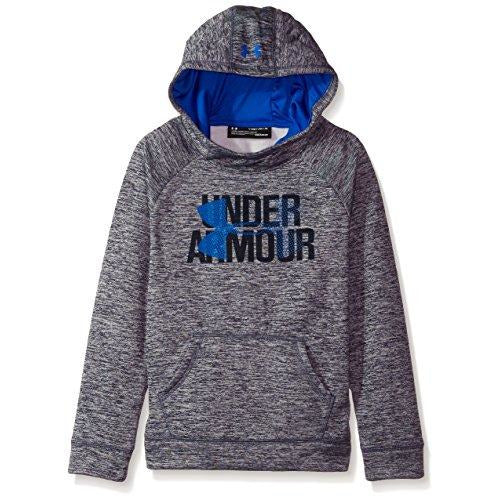 Under Armour Girls' Armour Fleece Big Logo Printed Hoodie, Midnight Navy (410)/Lapis Blue, Youth Medium