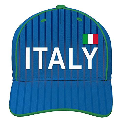 World Cup Soccer Italy Mens -Printed Structured Adjustable Hat, Royal, One Size