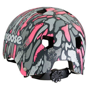 Mongoose Youth Logo Camo Grit Helmet, Pink/Grey