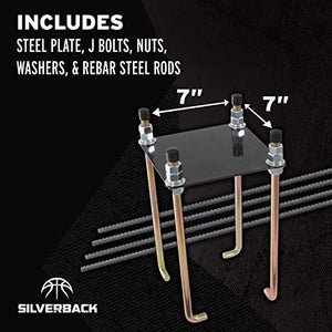 "Silverback 7"" Basketball Hoop Anchor Kit Designed for Silverback, Goaliath, and Hoopstar Basketball Hoops"