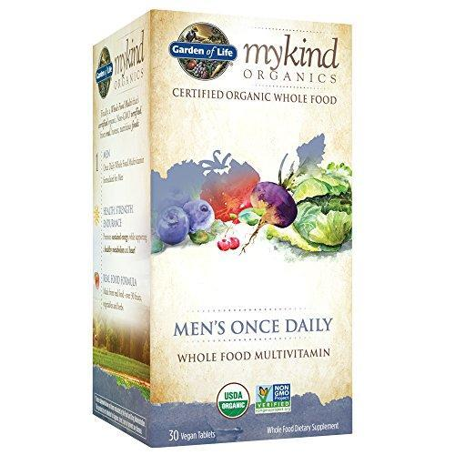 Garden Of Life Multivitamin For Men - Mykind Organic Men'S Once Daily Whole Food Vitamin Supplement, Vegan, 30 Tablets