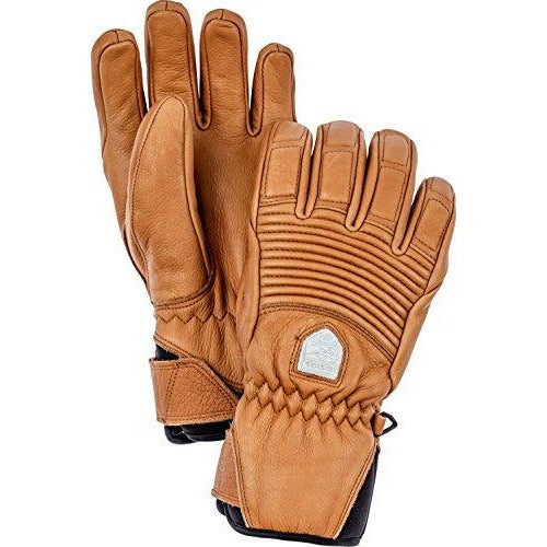 Hestra Womens Ski Gloves: Fall Line Leather Cold Weather Winter Gloves, Cork, 9