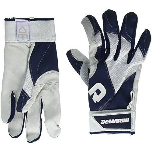 DeMarini Men's Phantom Batting Gloves, Navy, X-Large