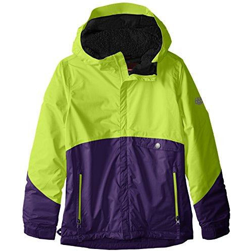 686 Girls Wendy Insulated Jacket (Big Kids), Violet Colorblock, Medium