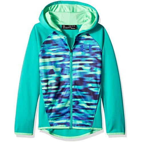 Under Armour Girls Armour Fleece Full Zip, Green Malachite (349), Youth Medium