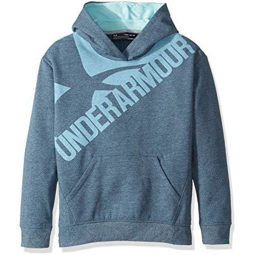 Under Armour Girls' Threadborne Novelty Fleece Hoodie,True Ink /Blue Infinity, Youth Small